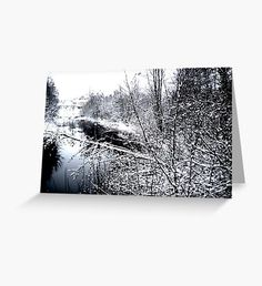 River Frozen Greeting Card