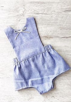 Handmade Baby Romper With Bow | MissLylaBoutique on Etsy