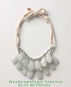 "DIY::Anthropologie Knock off ""Stormy Seas Necklace"""