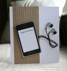 Birthday Card with iPhone