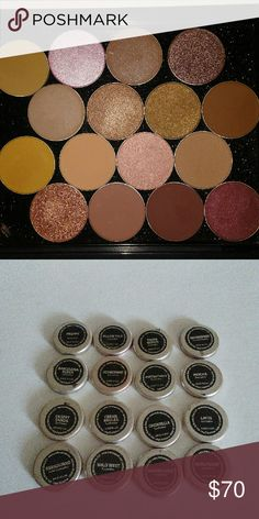 Makeup Geek Eyeahadow Lot 14 Makeup Geek eyeshadows (regular/duochrome) and 2 foiled shadows. A few swatched, the rest are brand new. All will come in their original Makeup Geek packaging, not this Ofra iPalette (which if anyone is interested let me know- its brand new and retails for $60) Makeup Geek Makeup Eyeshadow