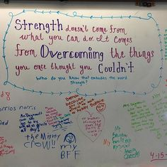 Happy Friday! #miss5thswhiteboard #teachersfollowteachers #iteachfifth #strength