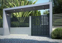 Swing gates / aluminum / with bars / panel