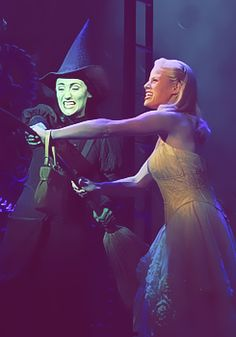 """With you and I defying gravity, they'll never bring us down."" ~ Eden Espinosa and Megan Hilty. LOVED them together."