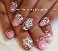 cute floral acrylic nails tumblr