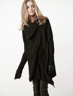 all saints spitalfields: lendra coat & elben cropped leather trousers... yum