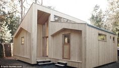 This house is put together with no nails etc and can be recycled-@ facit-homes.comThe ultimate DIY project: The flat pack house can be quickly assembled