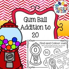 Gum Ball Math Addition to 20, Color the Sum, Colour the SumThis activity comes in both British and American spelling of color/colour. Students have to colour/color the sums that make the number in the gum ball machine.This download includes numbers 0 - 20.