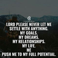 Prayers. Never Settle