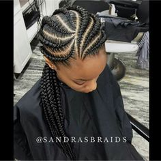 Feed in cornrows Follow @andreatravis281 for more :)