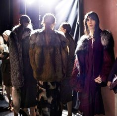 #Fur #Coat & #Scarf  #Fashion #Trends for Fall Winter 2013 Lanvin F/W 2013