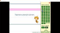 Nácvik písania písaných tvarov písmen. Desktop Screenshot