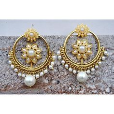 Beautiful -https://www.cooliyo.com/product/98505/punjabi-pearl-sunflower-bali-hoop-earrings/