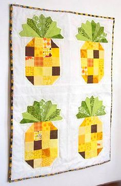 Pineaapple Wall Hanging - could set these blocks on point for a cute table topper, or line up in a row for a table runner.