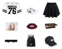 """""""Made by @miaperez04614 Go Follow Me!!✨✨"""" by luv-jay-jay ❤ liked on Polyvore featuring Boohoo, WithChic, adidas, 8 Other Reasons and MICHAEL Michael Kors"""