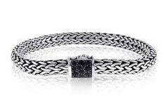 Windsor Jewelers - John Hardy Classic Chain Lava Silver and Black Sapphire Bracelet Size XS, $495.00 (http://www.windsor-jewelers.com/john-hardy-classic-chain-lava-silver-and-black-sapphire-bracelet-size-xs/)