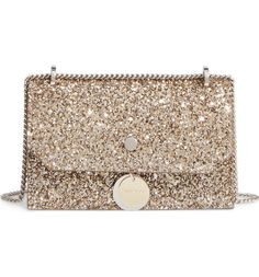 Main Image - Jimmy Choo Finley Shadow Glitter Shoulder Bag