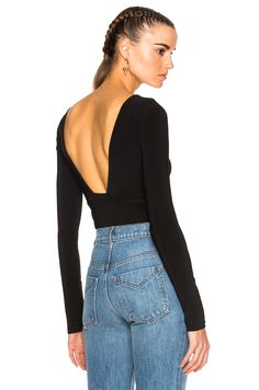 PROTAGONIST Low Back Bodysuit. #protagonist #cloth #