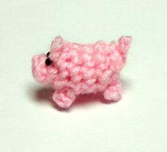 Micro Mini Piggy Plushie by HappySquidMuffin on Etsy, $3.00