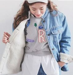 #aliexpress, #fashion, #outfit, #apparel, #shoes #aliexpress, #Winter, #Lambs, #Denim, #Jacket, #Casual, #Loose, #Denim, #Outerwear, #Thickening, #Female