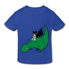 8ad18758b Batman On Dinosaur Royal Blue Toddler T-shirt For Toddler No Minimums-Funny  Kids