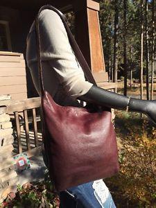 Nordstrom Whiskey Brown PEBBLED Shoulder Hobo Handbag Large | eBay