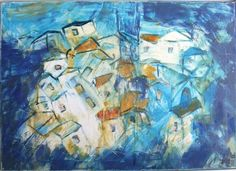 Toscana Winter-World  Oil /  Canvas / Drawing 27,56 x 19,69 Inch on Etsy, $268.32