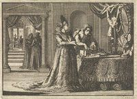 First visit of Gustav II Adolf to his betrothed Maria Eleonora