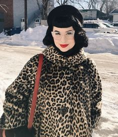 different day, another leopard print Pin Up Style, My Style, Rockabilly Looks, Leopard Print Outfits, Gothabilly, Leopard Pattern, Dita Von Teese, Psychobilly, Vintage Hairstyles