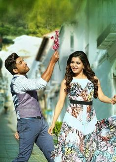 Samantha in S o Sathyamurthy Latest Pictures 5 - Samantha Ruth Prabhu Latest Stills from mvoie Son Of Satyamurthy Along with Allu Arjun Best Couple Pictures, Love Couple Images, Romantic Pictures, Bollywood Couples, Bollywood Actors, Dj Movie, Allu Arjun Wallpapers, Allu Arjun Images, Cute Love Images