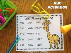 rice box and cookie sheet ABC activities
