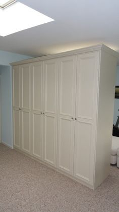 Room Divider traditional closet-love this idea for adding storage