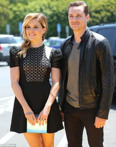 Good looking co-stars: Sophia arrived with Jesse Lee Soffer, who also stars on the NBC drama