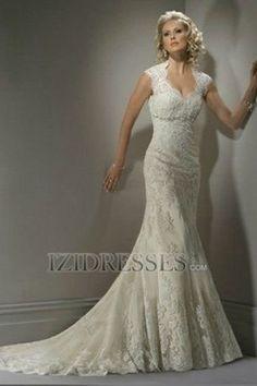 Sheath Column V Neck Lace Wedding Dress Izidresses Com Tulle