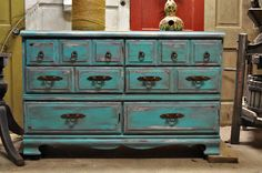 Turquoise distressed