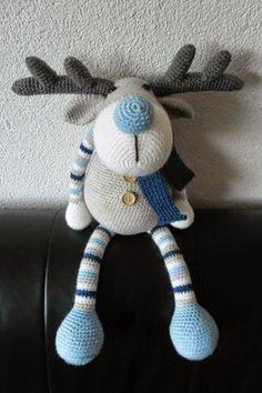 Newborn Crochet Patterns, Easy Crochet Patterns, Crochet Patterns Amigurumi, Amigurumi Doll, Crochet Deer, Crochet Animals, Crochet Baby, Knit Crochet, Crotchet Blanket