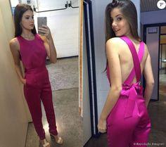 Camila Queiroz usou a mesma peça durante participação no programa 'Encontro com Fátima Bernardes'