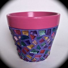 Hey, I found this really awesome Etsy listing at https://www.etsy.com/listing/202532813/glittering-mosaic-flower-pot-in-jewel
