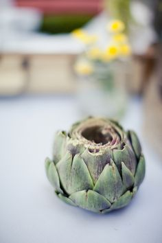 artichoke tea candle holder (photo by Marissa Rodriguez) @Molly Cunningham this makes me think of you!