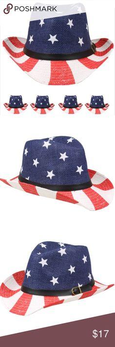 ac60410986250 American flag cowboy hat cap men women western Boutique