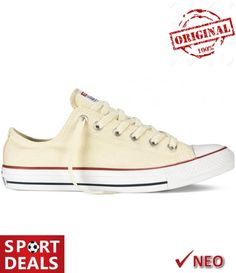 Shop Women's Converse Cream size 7 Sneakers at a discounted price at Poshmark. And I also lost the shoe laces. White Converse, Chuck Taylor Sneakers, Chuck Taylors, All Star, Stars, Natural, Products, Fashion, Moda