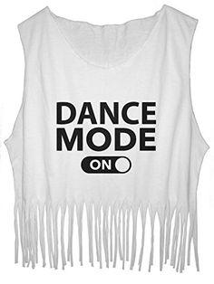 FRINGE TankTop Dance Mode Tee Ballet Dance FREE SHIP_$22.90_100% Cotton http://www.amazon.com/dp/B01EFJMP22/ref=cm_sw_r_pi_dp_odzlxb024T4R3