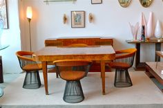 French Art Deco Walnut Dining Table at 1stdibs