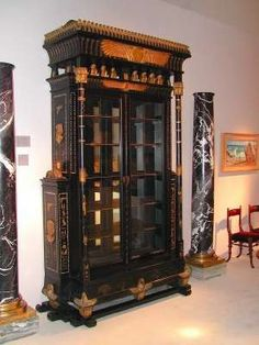 | ♕ |  Egyptian Revival Bookcase - Antwerp