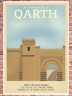 Game of Thrones Travel Poster - Qarth
