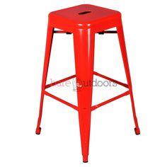Tolix Bar Stool 75cm - Xavier Pauchard Replica - Premium - Red