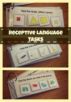Interactive Receptive Language Tasks for all levels of learners! found at theautismhelper.com