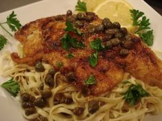 Chicken Piccata with Egg Linguine « We are not Martha