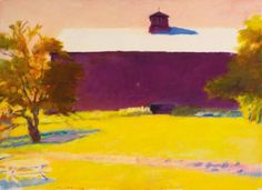"""""""The Reed Place,"""" Wolf Kahn, oil on canvas, 52 x 71 3/4"""", private collection."""