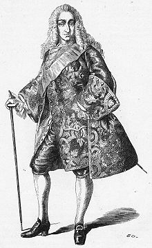 Christian VI of Denmark (1699 - 1746). Son of Frederick IV and Louise of Mecklenburg-Güstrow. He succeeded his father as King.